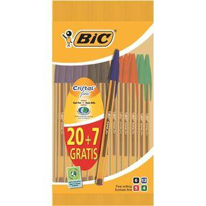 Stylo - Parure BIC® - Lot de 27 Stylos à bille Cristal® Fine Orig