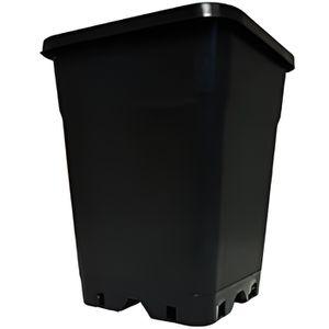 JARDINIÈRE - BAC A FLEUR Pot carré noir 7L 0,000000