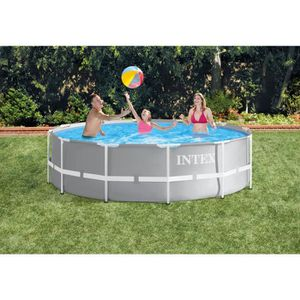 PISCINE INTEX Kit Piscine Prism Frame Ronde Tubulaire - 3m