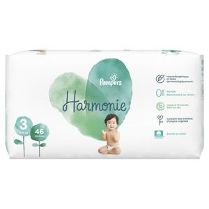COUCHE PAMPERS Harmonie Taille3, 6 -10 kg, 46Couches