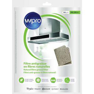 FILTRE POUR HOTTE WPRO NGF331 Filtre antigraisse universel en fibres