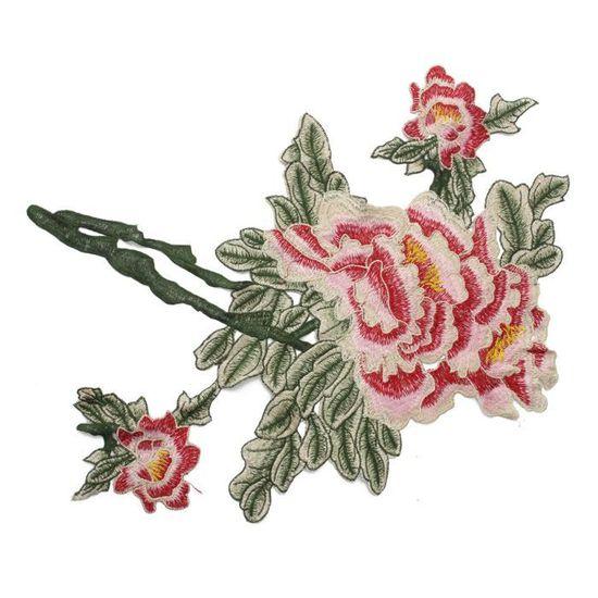 Perles Broderie Dentelle Fleurs Applique Trim Sewing Patch Robe de Mariée À faire soi-même
