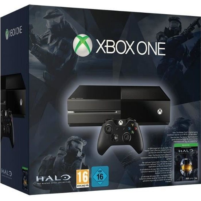 xbox one 500 go noire halo the master chief collection. Black Bedroom Furniture Sets. Home Design Ideas