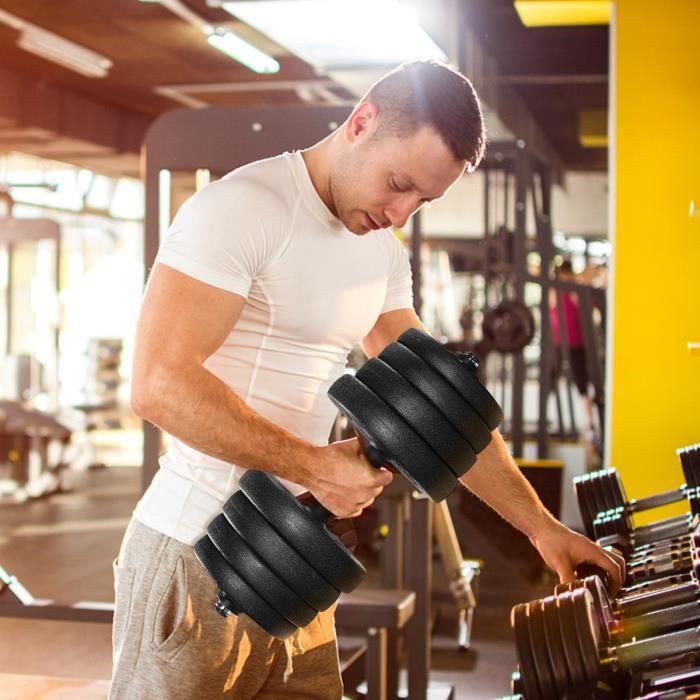 Haltère de Musculation Kit Haltère Réglable 30KG