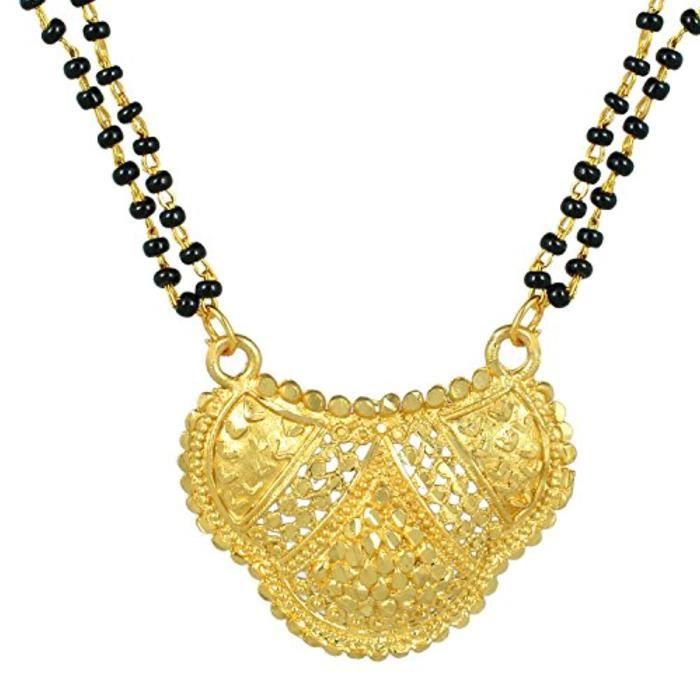 Chaine De Cou Vendue Seule EWWLS de bijoux simple Sober Mangalsutra Tanmaniya Thali plaqué or f