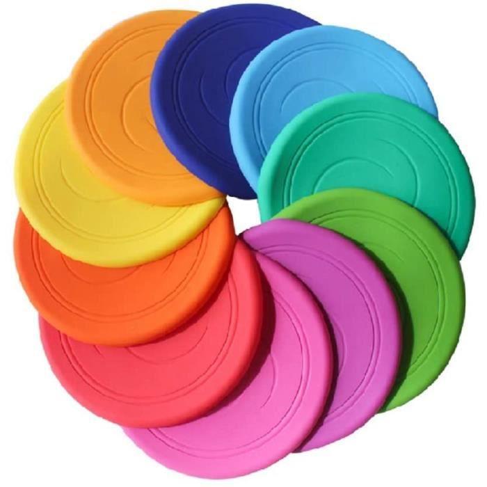 3 Pcs Disques Volants Disque Volant Non Glissant Soft Silicone Toy Parents Kid Time Outdoor Sport Couleur Aléatoire