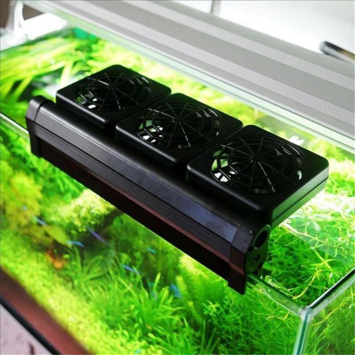 Ventilateurs de refroidissement d'aquarium refroidisseur d'eau réglable refroidisseur de vent froid 3 têtes de ventilateur - MM 113