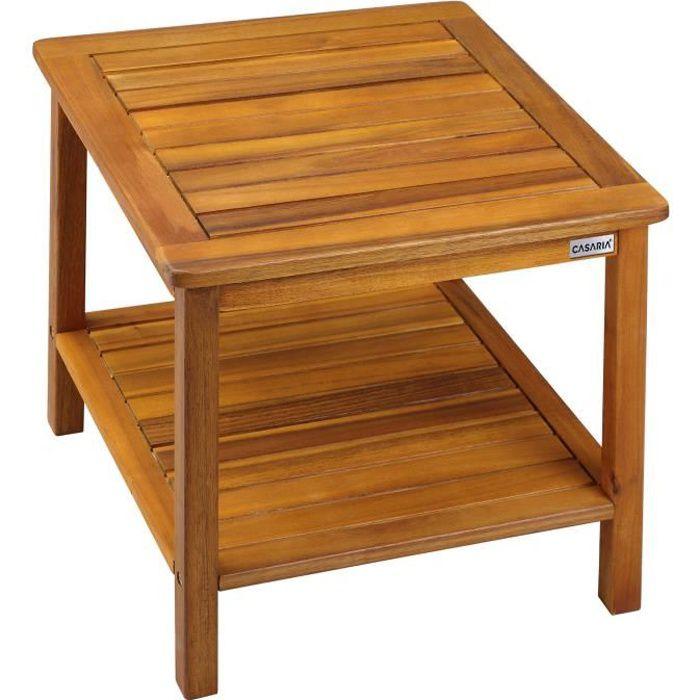 Deuba - Table d'appoint en Bois d'acacia • 45x45x45 cm - Desserte, Jardin, terrasse, intérieur, extérieur