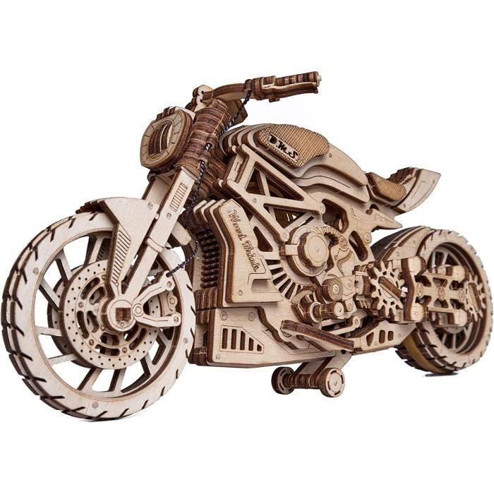 Wood Trick Tricot en Bois pour Moto avec Moteur à Bande &eacutelastique – Course jusqu'à 4,6 m – Mod&egravel[181]