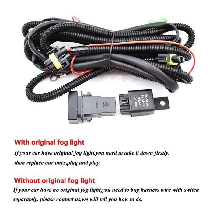 wire -Phare antibrouillard halogène Led, 2 pièces, pour Mitsubishi L200 OUTLANDER Grandis 9 pièces H11 12V 55W