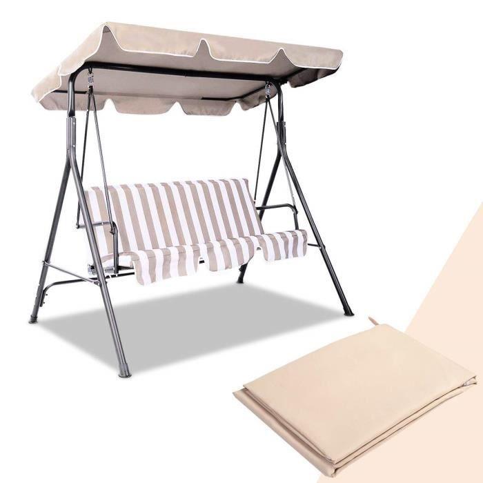 GYMAX. Auvent de Rechange pour hamac avec Surface imperméable pour Jardin, terrasse, extérieur, balancelle, 109 x 196 cm