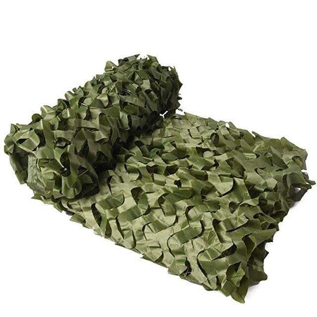 Voile d'ombrage,Militaire filets de camouflage, bâche de camouflage filets léger auvents, décorations de - Type Pure green-4 X 6M