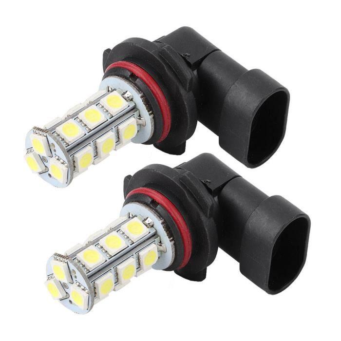 Sonew Phare antibrouillard 2x HID blanc HB3 9005 18SMD 5050 LED voiture DRL brouillard conduite phare ampoule lampe 12V