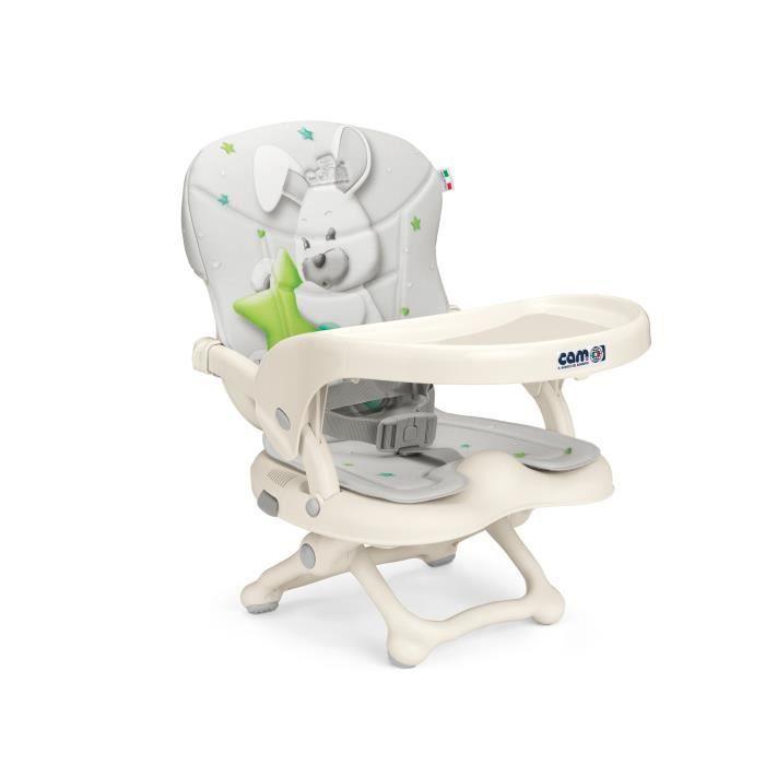 Cam - Rehausseur chaise de voyage SMARTY POP - rembourrage inclus - col.242 lapin
