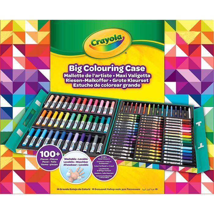Crayola - Mallette de l'Artiste - 100 pièces de coloriage - Activités pour les enfants