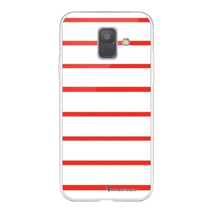 Coque Samsung Galaxy A6 2018 360 intégrale transparente Marinière Rouge Ecriture Tendance Design La Coque Francaise