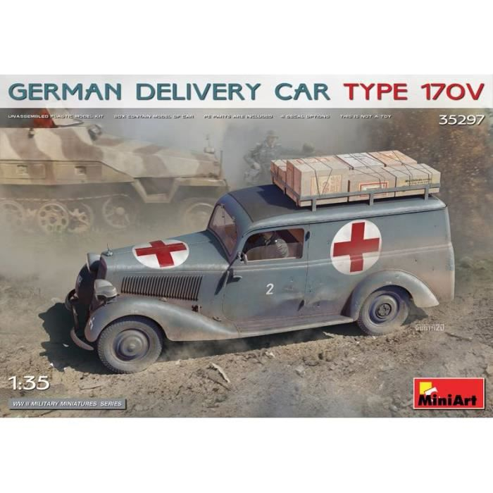 Maquette Voiture Maquette Camion German Delivery Car Type 170v - MiniArt