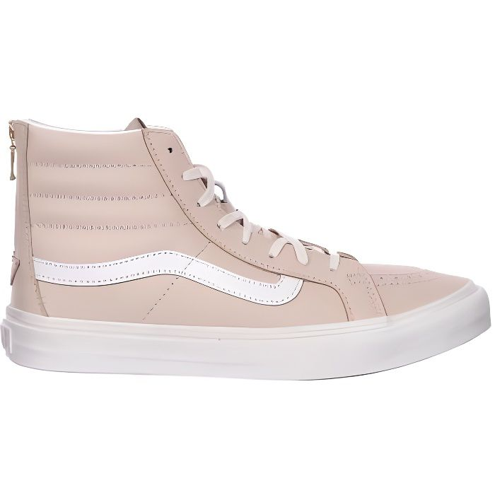 VANS Chaussures Sk8-Hi Slim Zip Leather Whispering Femme