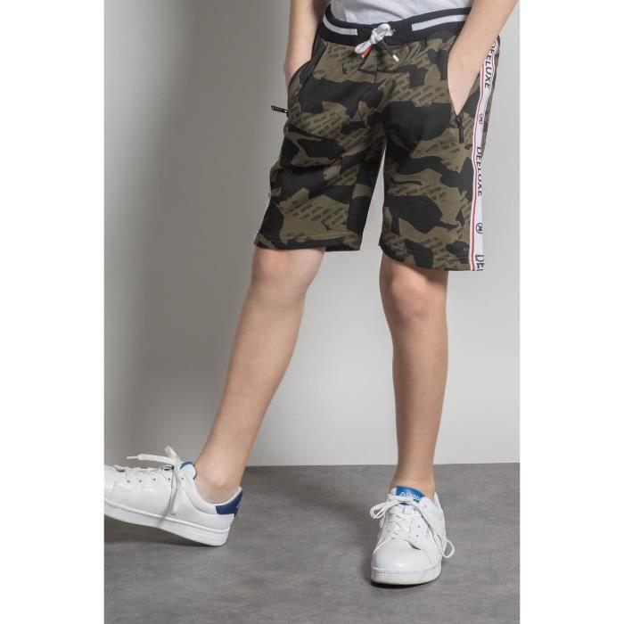 DEELUXE Short de jogging camouflage PROTECT Olive