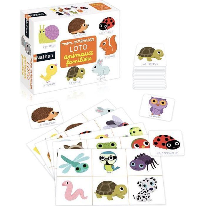 mon loto animaux familiers - un premier jeu éducatif et nomade sur les animaux pour les enfants dès 2 ans