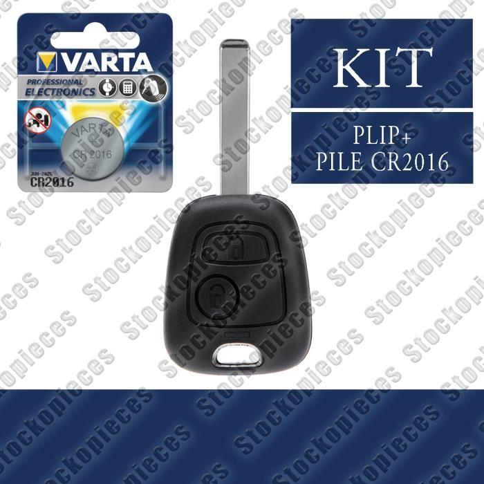 PLIP CLEF POUR COMPATIBLE CITROEN C1 C2 C3 C4 C5 C8 + Pile VARTA