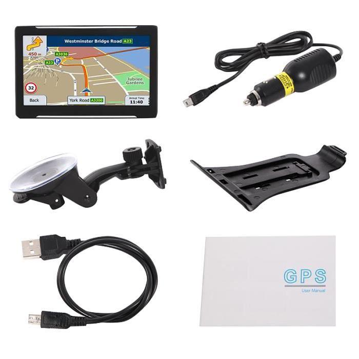 Système de Navigation Automobile Gps Portable Écran Capacitif 256Mb 8G Hd 7 Pouces