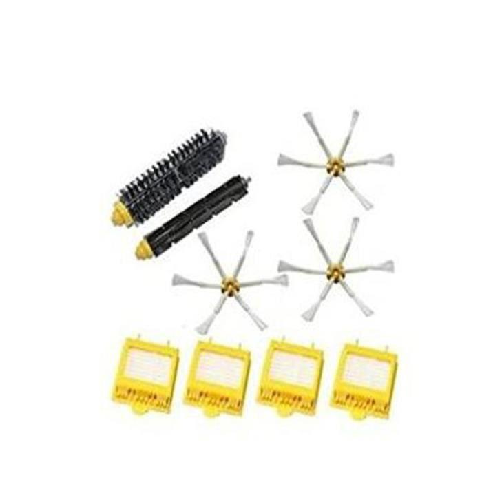 STOEX® filtres Hepa Brosse à poils Souple Brosse 6 armées côté brosse pour aspirateur iRobot Roomba série 700 760 770 780 790