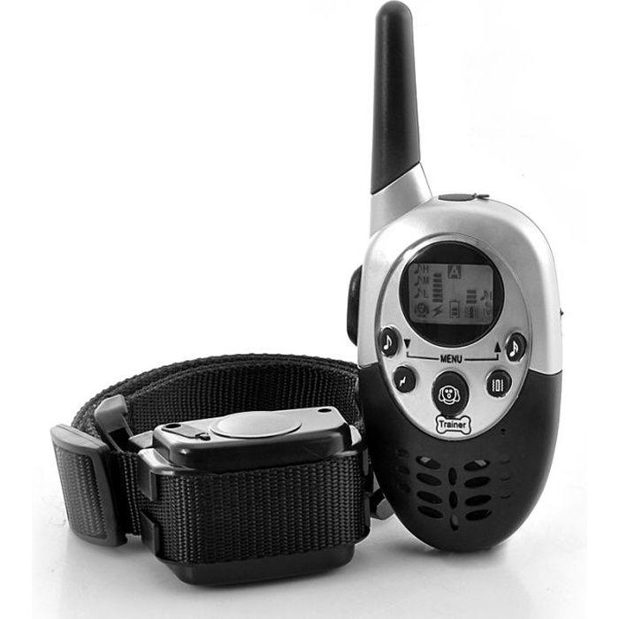 Tera® Collier de dressage électrique pour chien rechargeable étanche télécommandé à portée de 1000 mètres avec écran LCD