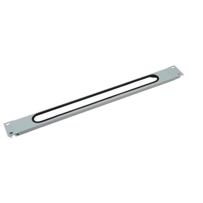 plaque passe-câbles 1 U, noir (RAL 9005)