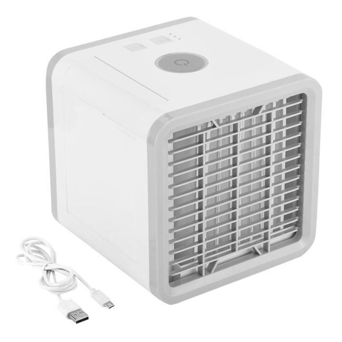 Climatiseur Portable Ventilateur USB Mini Refroidisseur d'air Humidificateur Purificateur pour Maison/Bureau/Camping