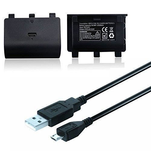 BATTERIE DE CONSOLE 2 paire 2400mAh Batterie Rechargeable + Câble Char