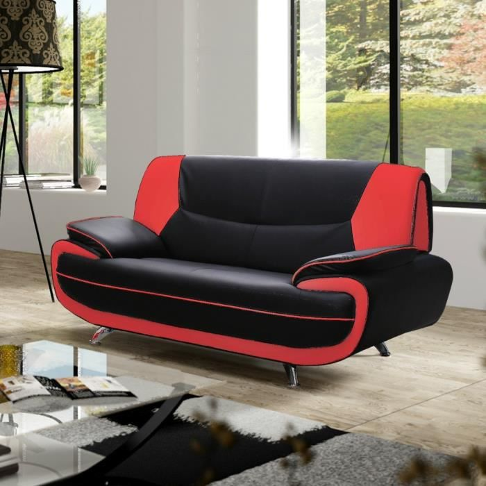 canape rouge et noir achat vente canape rouge et noir. Black Bedroom Furniture Sets. Home Design Ideas
