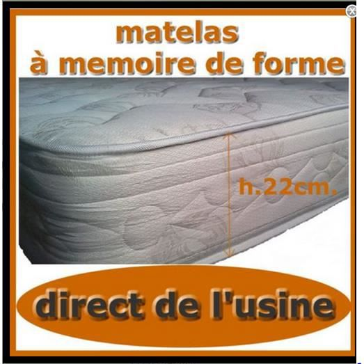 matelas 140x190 h22cm memoir de forme achat vente. Black Bedroom Furniture Sets. Home Design Ideas