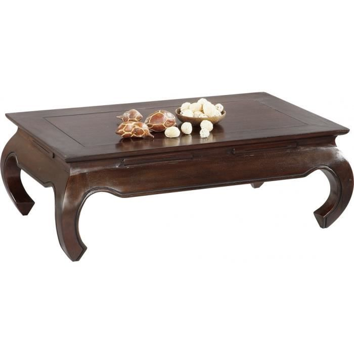 Table basse rectangulaire acajou massif achat vente table basse table bas - C discount table basse ...