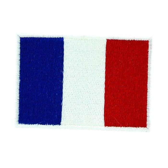 patch ecusson thermocollant drapeau france 7x5cm achat vente renfort patch patch les. Black Bedroom Furniture Sets. Home Design Ideas