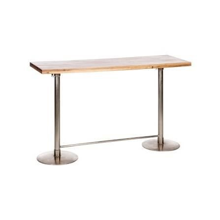 Table haute de bar rectangulaire ajustable en bois et for Achat table bar