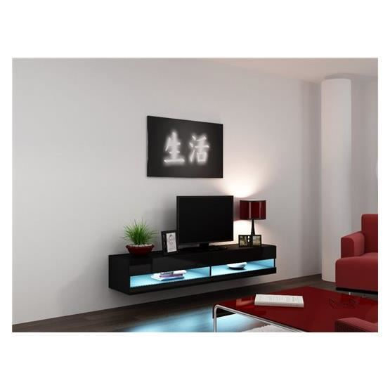 meuble tv design suspendu larmo new noir achat vente meuble tv meuble tv larmo nr cdiscount. Black Bedroom Furniture Sets. Home Design Ideas