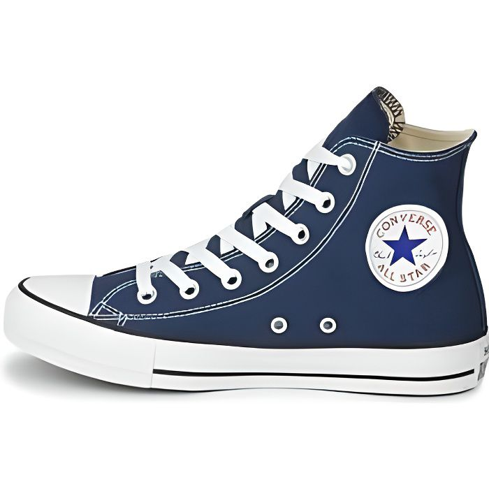 converse all star hi baskets mo bleu marine achat vente basket cdiscount. Black Bedroom Furniture Sets. Home Design Ideas