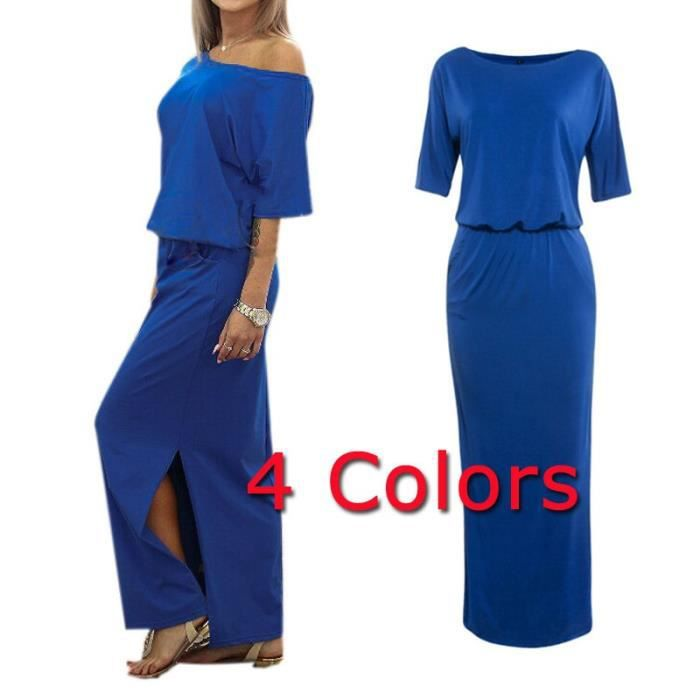 2017 Femmes dété Sexy une épaule été Fractionnement Maxi Ladies Beach Party Dress Casual Robe longue