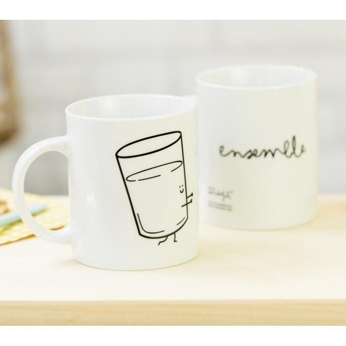 Set de 2 mugs duo pour couple - Ensemble c'est mieux - Cdiscount MaisonCdiscount
