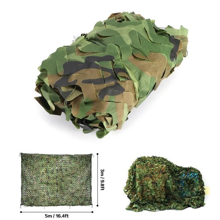 Filet De Camouflage 5 3m Desert Militaire Woodlands Feuille Chasse Camping Prix Pas Cher Cdiscount