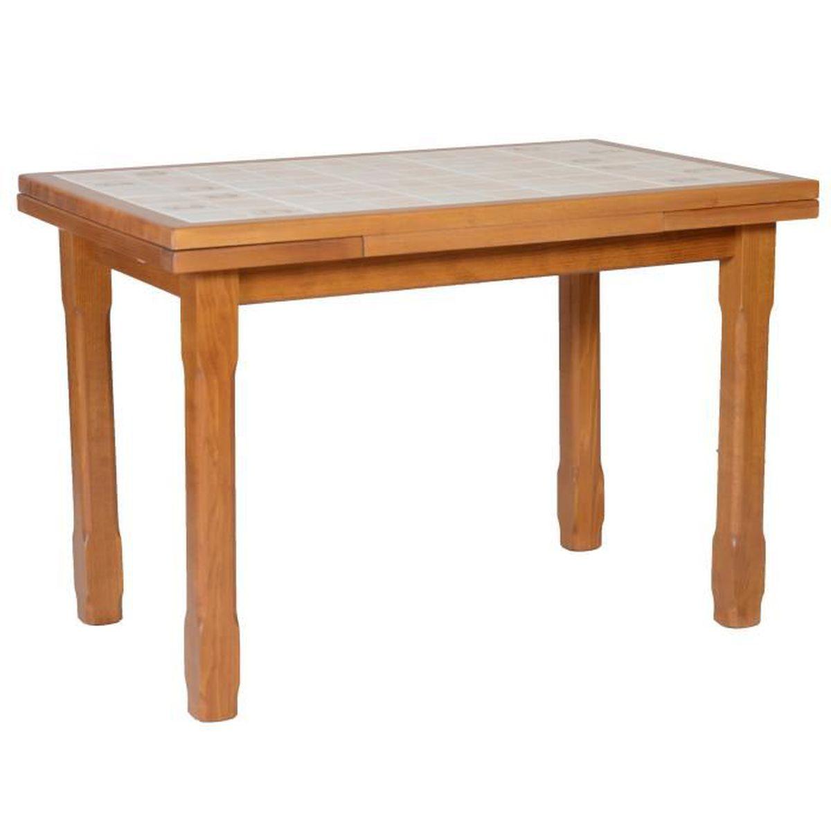 Table Salle A Manger Carré Avec Rallonge table cuisine carrelée 110 x 70 + 2 allonges - achat / vente