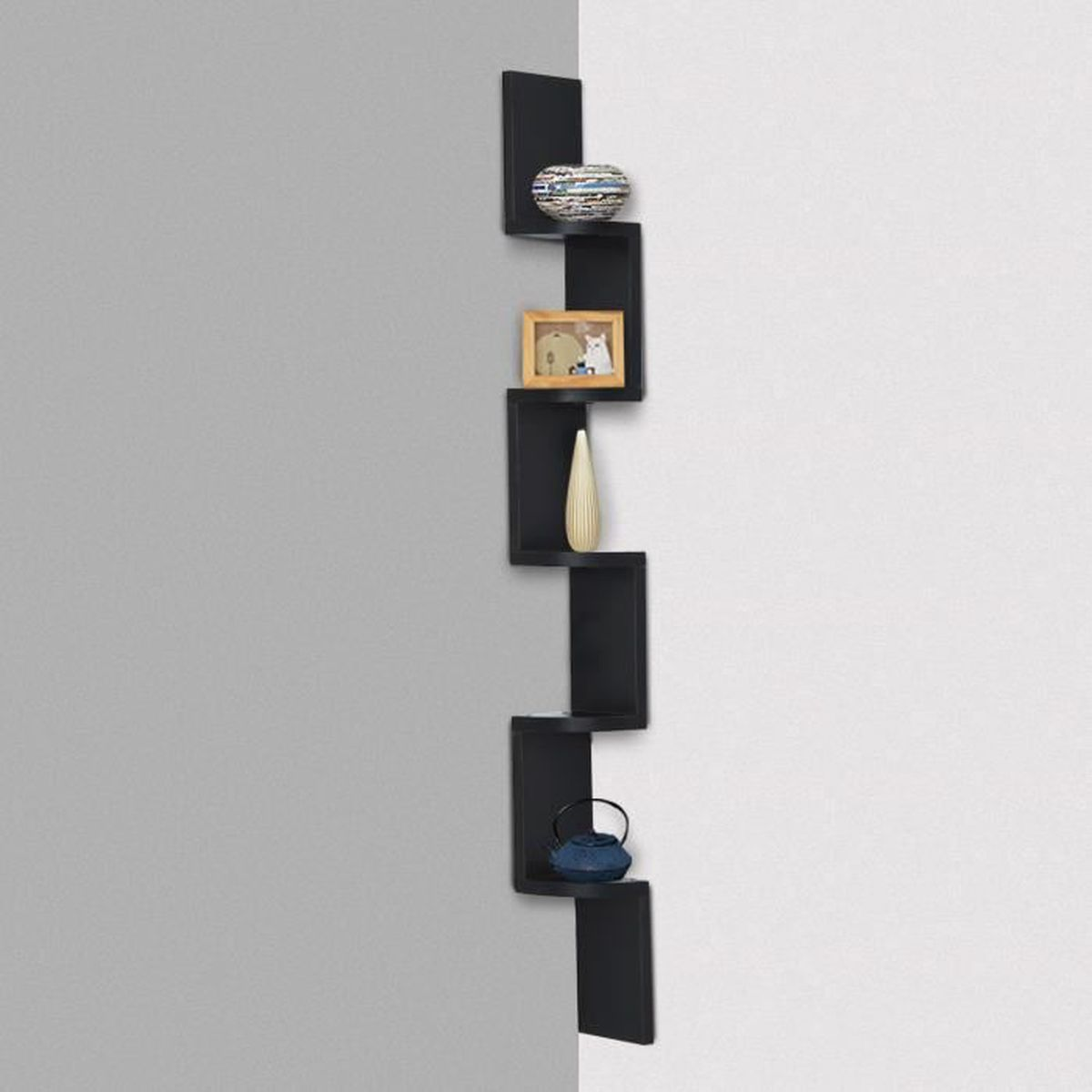 etagere murale d angle achat vente etagere murale d angle pas cher cdiscount. Black Bedroom Furniture Sets. Home Design Ideas