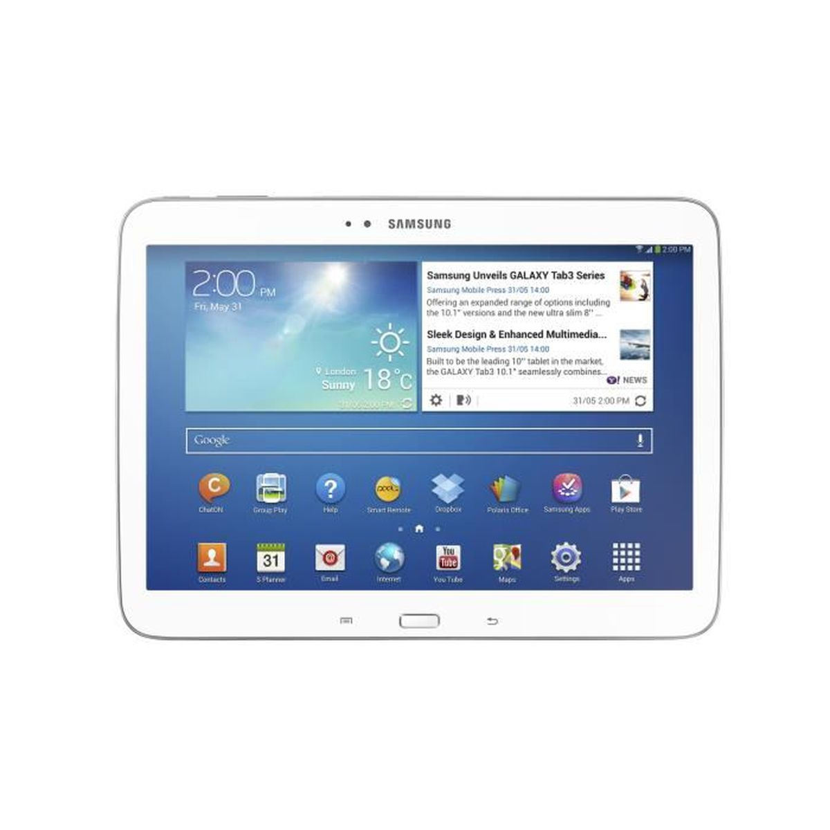 samsung galaxy tab 3 gt 5210 tablette tactile 10 pouces wifi 2 go ram 16 go disque dur ssd. Black Bedroom Furniture Sets. Home Design Ideas