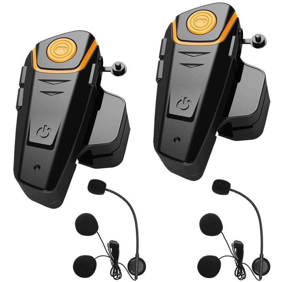 INTERCOM MOTO 2pcs Intercom Moto Bluetooth,Kit Communication Ore