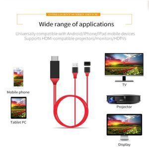RÉCEPTEUR - DÉCODEUR   HDMI AV Câble adaptateur vidéo pour Apple iPad iPh