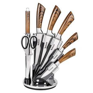 COUTEAU DE CUISINE  Velaze 8pcs Kit Couteaux de Cuisine Professionnel