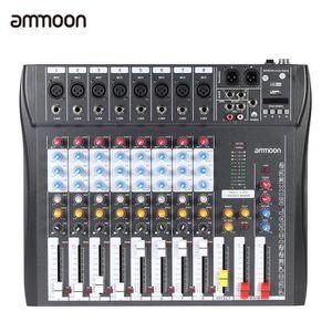 TABLE DE MIXAGE ammoon CT80S-USB 8 canal Digtal micro ligne Audio