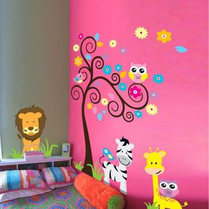 Autocollants muraux Lion Tigre Animal Paw lit Vinyl Poster Séjour Décalcomanie Art 3D