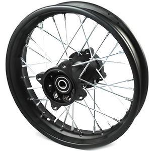 "Roue Complète 12 /"" Arrière Course Axe Ø15mm Dirtbike Pitbike Mini Moto Crossbike"